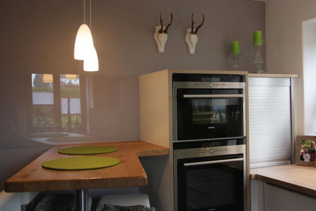 k che wei eichen arbeitsplatte edelstahlgriffe. Black Bedroom Furniture Sets. Home Design Ideas