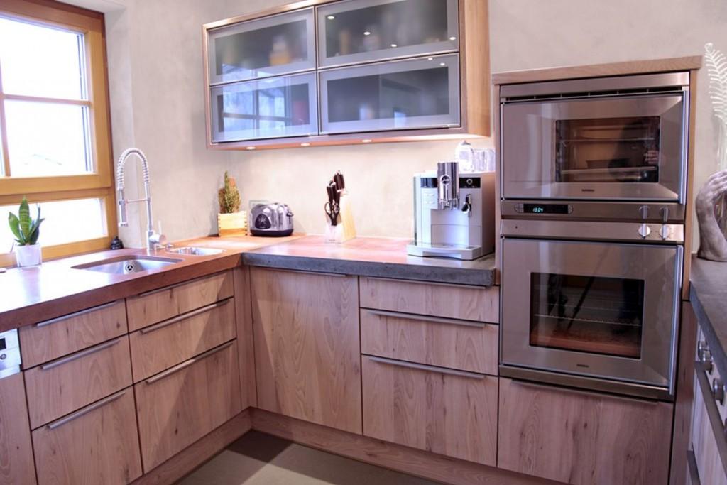 Betonarbeitsplatte Küche küche rüster weiß gewachst beton arbeitsplatte edelstahl griffe